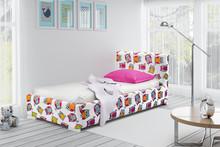 Łóżko tapicerowane HAWANA 90x200 - tkanina Sowy 22618