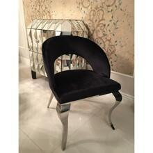 Krzesło welurowe EMPORIO FT192 - czarny