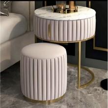 Szafka/toaletka z pufą GLAM WELVET - różowy