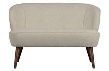 Mały Sofa SARA pluszowy off/white