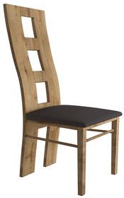 Krzesło z profilowanym oparciem MONTANA KRZ5 - dąb lefkas/orzech