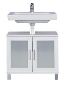Szafka pod umywalkę 2-drzwiowa ORLANDO - biały mat
