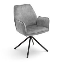 Krzesło z podłokietnikami OTTAWA - szary