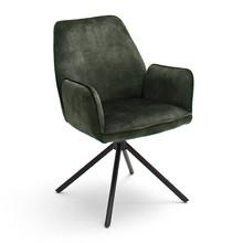 Krzesło z podłokietnikami OTTAWA - oliwkowy