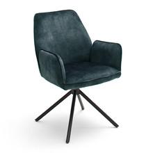 Krzesło z podłokietnikami OTTAWA - turkusowy
