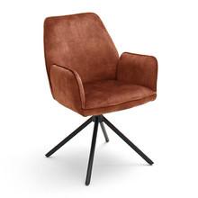 Krzesło z podłokietnikami OTTAWA - rudobrązowy