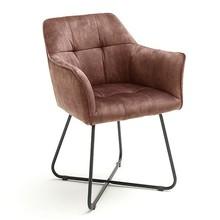 Krzesło z podłokietnikami PANAMA - brązoworudy