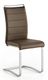 Krzesło na płozie PESCARA - brązowy