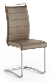 Krzesło na płozie PESCARA - cappuccino