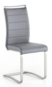 Krzesło na płozie PESCARA - szary