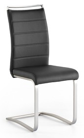 Krzesło na płozie PESCARA - czarny