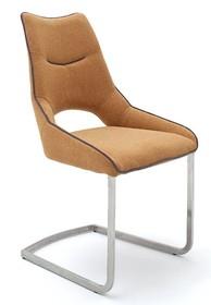 Krzesło na płozie ALDRINA - curry