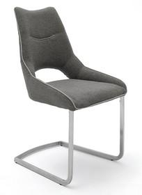 Krzesło na płozie ALDRINA - szary
