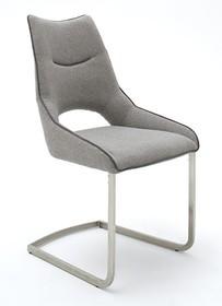 Krzesło na płozie ALDRINA - jasnoszary
