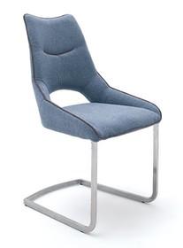 Krzesło na płozie ALDRINA - turkusowy
