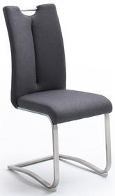 Krzesło z uchwytem ARTOS - tkanina antracyt