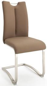 Krzesło z uchwytem ARTOS - ekoskóra cappuccino