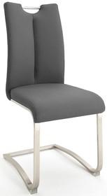 Krzesło z uchwytem ARTOS - ekoskóra szara
