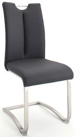 Krzesło z uchwytem ARTOS - ekoskóra czarna