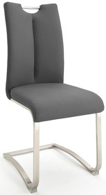 Krzesło z uchwytem ARTOS 2 - skóra szara