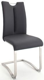 Krzesło z uchwytem ARTOS 2 - skóra czarna