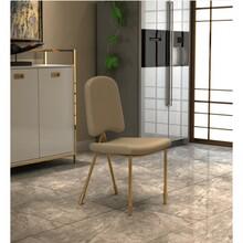 Krzesło tapicerowane SARA - biały/złoty