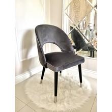 Krzesło welurowe ASTORIA - szary