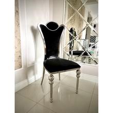 Krzesło welurowe MASSIMO - czarny
