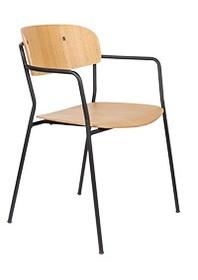 Krzesło z podłokietnikami JOLIEN - czarny