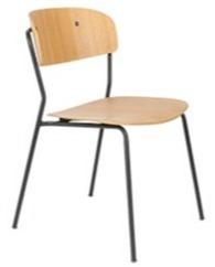 Krzesło JOLIEN - czarny/drewno