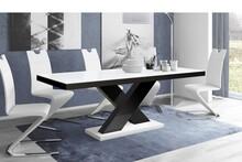Stół rozkładany XENON 160 - matowy/biało-czarny