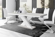 Stół rozkładany XENON 160 - matowy/jasnoszaro-biały
