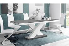 Stół rozkładany XENON 160 - matowy/szaro-biały