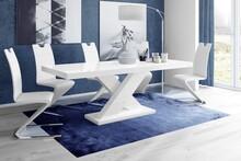 Stół rozkładany XENON 160 - wysoki połysk/biały