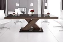 Stół rozkładany XENON 160 - wysoki połysk/brąz-dąb faro