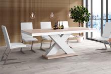 Stół rozkładany XENON 160 - wysoki połysk/cappucino-biały