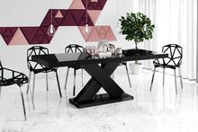 Stół rozkładany XENON 160 - wysoki połysk/czarny