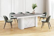 Stół KOLOS MAX 180 - matowy/szaro-biały