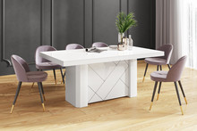 Stół KOLOS MAX 180 - wysoki połysk/biały