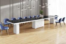 Stół KOLOS MAX 180 - wysoki połysk/czarno-biały