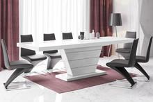 Stół rozkładany VEGA 160 - wysoki połysk/biały
