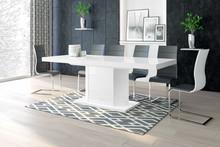 Stół rozkładany AMIGO 160 - wysoki połysk/biały