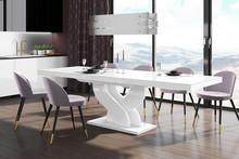 Stół BELLA 160 - wysoki połysk/biały