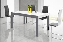 Stół IMPERIA160 - wysoki połysk/szaro-biały