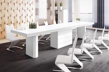 Stół KOLOS 140 - matowy/biały