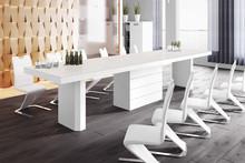 Stół KOLOS 140 (matowy/jasnoszaro-biały)