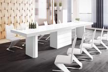 Stół KOLOS 140 - wysoki połysk/biały