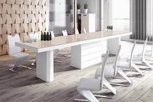 Stół KOLOS 140 - wysoki połysk/cappucino-biały