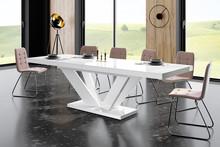 Stół VIVA 2 - wysoki połysk/biały