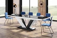 Stół VIVA 2 - wysoki połysk/czarno-biały/nogi mieszane
